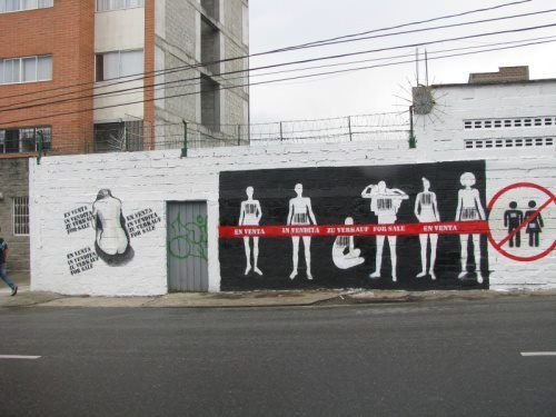 Student Art Against Human Trafficking - Medellin 2