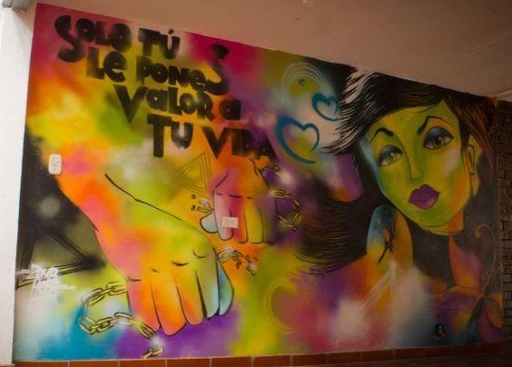 Student Art Against Human Trafficking - Bogota
