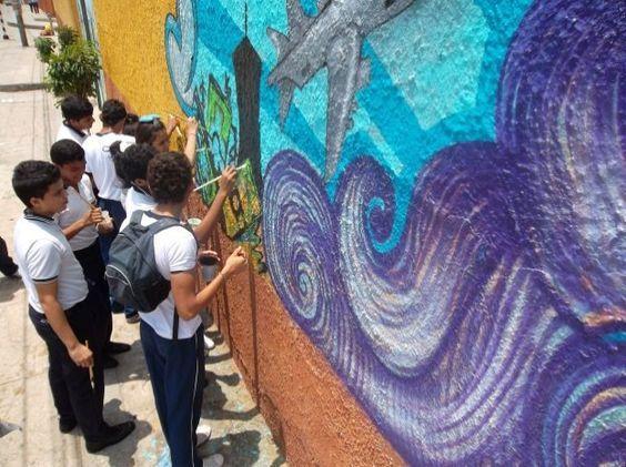 Student Art Against Human Trafficking - Barranquilla